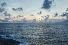 Ηλιοβασίλεμα σε Laem Phrom Thep, ακρωτήριο Phromthep Στοκ Εικόνες