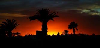 Ηλιοβασίλεμα σε Lanzarote Στοκ Εικόνες
