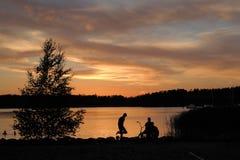 Ηλιοβασίλεμα σε Naantali Στοκ φωτογραφία με δικαίωμα ελεύθερης χρήσης
