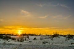 Ηλιοβασίλεμα σε Pawleys Στοκ φωτογραφία με δικαίωμα ελεύθερης χρήσης