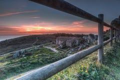 Ηλιοβασίλεμα σε Peninha Στοκ Φωτογραφίες