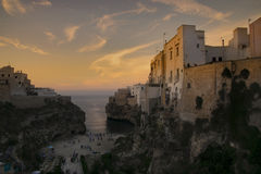 Ηλιοβασίλεμα σε Polignano 01 Στοκ Φωτογραφία