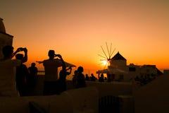 Ηλιοβασίλεμα σε Santorini 2 Στοκ Φωτογραφία