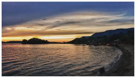 Ηλιοβασίλεμα σε Sumatra Στοκ φωτογραφίες με δικαίωμα ελεύθερης χρήσης