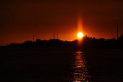 Ηλιοβασίλεμα σε Tamsui Στοκ Εικόνα