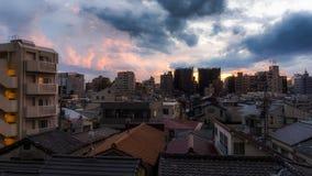 Ηλιοβασίλεμα σε Yanaka, Τόκιο στοκ εικόνες με δικαίωμα ελεύθερης χρήσης