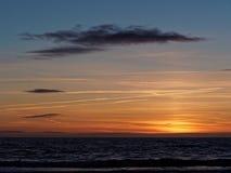 Ηλιοβασίλεμα σε Ynyslas Στοκ εικόνες με δικαίωμα ελεύθερης χρήσης