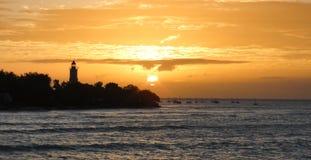 Ηλιοβασίλεμα σε Zanzibar Στοκ Εικόνα