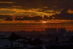 Ηλιοβασίλεμα σε Zugdidi, Γεωργία Στοκ Εικόνες