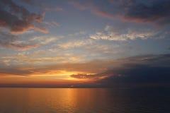 Ηλιοβασίλεμα, σκανδιναβικά Στοκ εικόνα με δικαίωμα ελεύθερης χρήσης