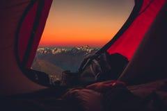 Ηλιοβασίλεμα σκηνών Στοκ φωτογραφία με δικαίωμα ελεύθερης χρήσης