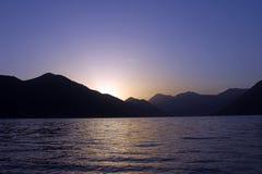 Ηλιοβασίλεμα στα βουνά του Μαυροβουνίου Στοκ Εικόνα