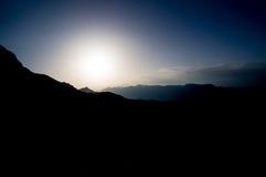 Ηλιοβασίλεμα στα βουνά Στοκ φωτογραφίες με δικαίωμα ελεύθερης χρήσης