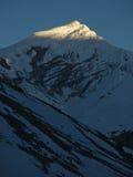 Ηλιοβασίλεμα στα βουνά στοκ φωτογραφία