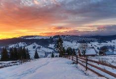 Ηλιοβασίλεμα στα βουνά Στοκ Εικόνα