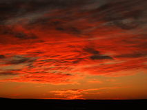 Ηλιοβασίλεμα στην έρημο Στοκ φωτογραφίες με δικαίωμα ελεύθερης χρήσης