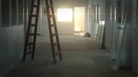Ηλιοβασίλεμα στην αίθουσα απόθεμα βίντεο