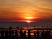 Ηλιοβασίλεμα στην αγορά Mindel, Βόρεια Περιοχή στοκ εικόνες με δικαίωμα ελεύθερης χρήσης
