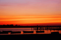 Ηλιοβασίλεμα στην ακτή του Τζέρσεϋ Στοκ φωτογραφία με δικαίωμα ελεύθερης χρήσης