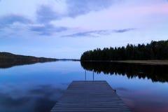 Ηλιοβασίλεμα στην αποβάθρα Στοκ Εικόνες