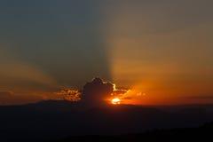 Ηλιοβασίλεμα στην Αφρική στοκ φωτογραφία με δικαίωμα ελεύθερης χρήσης