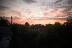 Ηλιοβασίλεμα στην επαρχία Στοκ Φωτογραφίες