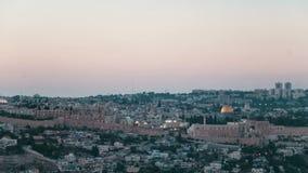 Ηλιοβασίλεμα στην Ιερουσαλήμ απόθεμα βίντεο