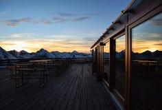 Ηλιοβασίλεμα στην κορυφή Στοκ Φωτογραφία