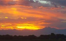 Ηλιοβασίλεμα στην μπροστινή σειρά Στοκ Εικόνες