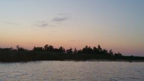 Ηλιοβασίλεμα στην Ολλανδία την άνοιξη Στοκ Φωτογραφία