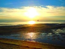 Ηλιοβασίλεμα στην παραλία στοκ εικόνες