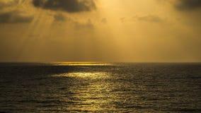 Ηλιοβασίλεμα στην παραλία Apollonia Στοκ φωτογραφία με δικαίωμα ελεύθερης χρήσης