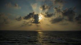 Ηλιοβασίλεμα στην παραλία Apollonia Στοκ εικόνες με δικαίωμα ελεύθερης χρήσης