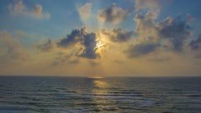 Ηλιοβασίλεμα στην παραλία Apollonia Στοκ Φωτογραφίες