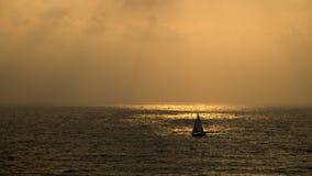 Ηλιοβασίλεμα στην παραλία Apollonia Στοκ Φωτογραφία