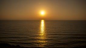 Ηλιοβασίλεμα στην παραλία Apollonia Στοκ φωτογραφίες με δικαίωμα ελεύθερης χρήσης
