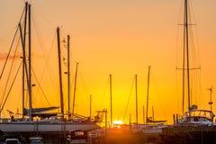 Ηλιοβασίλεμα στην παραλία Bucklands στη Νέα Ζηλανδία Στοκ Εικόνα
