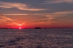 Ηλιοβασίλεμα στην παραλία Clearwater, Φλώριδα Τοπίο κόλπος Μεξικό Στοκ Εικόνα