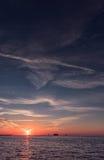 Ηλιοβασίλεμα στην παραλία Clearwater, Φλώριδα Τοπίο κόλπος Μεξικό Στοκ Φωτογραφία