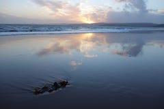 Ηλιοβασίλεμα στην παραλία Exmouth στοκ φωτογραφία με δικαίωμα ελεύθερης χρήσης