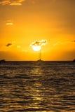 Ηλιοβασίλεμα στην παραλία Lahaina, Maui, Χαβάη Στοκ Εικόνες