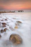 Ηλιοβασίλεμα στην παραλία Xilxes Στοκ εικόνες με δικαίωμα ελεύθερης χρήσης