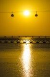 Ηλιοβασίλεμα στην Πορτογαλία Στοκ εικόνα με δικαίωμα ελεύθερης χρήσης