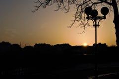 Ηλιοβασίλεμα στην πόλη Στοκ φωτογραφία με δικαίωμα ελεύθερης χρήσης