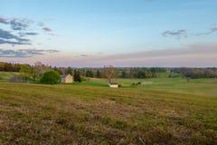 Ηλιοβασίλεμα στην πλευρά χωρών Στοκ Εικόνα