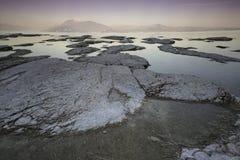 Ηλιοβασίλεμα στη λίμνη Garda Στοκ Φωτογραφίες