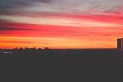 Ηλιοβασίλεμα στη Αγία Πετρούπολη Στοκ εικόνα με δικαίωμα ελεύθερης χρήσης
