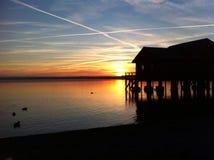 Ηλιοβασίλεμα στη Βαυαρία Στοκ φωτογραφία με δικαίωμα ελεύθερης χρήσης