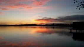 Ηλιοβασίλεμα στη Βαυαρία Στοκ φωτογραφίες με δικαίωμα ελεύθερης χρήσης