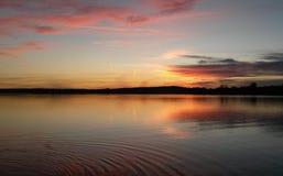 Ηλιοβασίλεμα στη Βαυαρία Στοκ Εικόνες